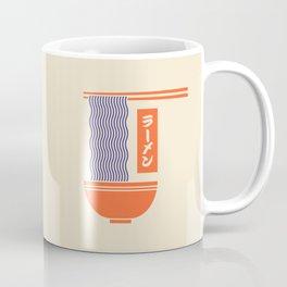 Ramen Japanese Food Noodle Bowl Chopsticks - Cream Coffee Mug