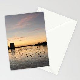 Sunset Limerick city docks Stationery Cards