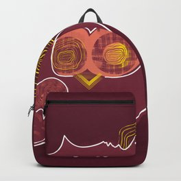 Hypnotic owl in the moonlight Backpack