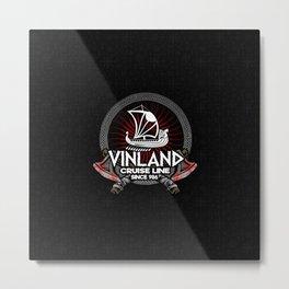 Viking Germanic Design Vinland Cruise Line Metal Print