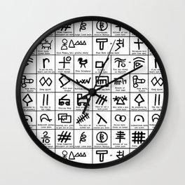 Hobo Code Wall Clock