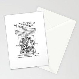 Don Quixote design: Miguel de Cervantes - Fine Art Gifts Stationery Cards