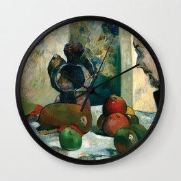 "Paul Gauguin - Still Life with Profile of Laval ""Nature morte au pofil de Laval"" (1886) Wall Clock"