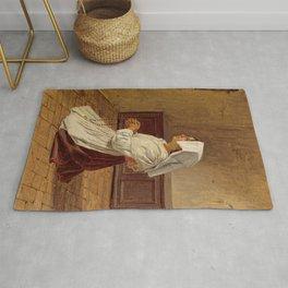 Martinus Rørbye - A Praying Italian Woman Rug