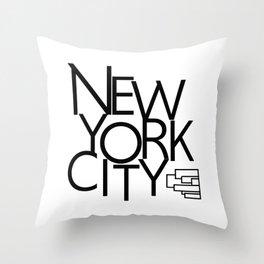 New York City - Building Sideways - 57 Montgomery Ave Throw Pillow