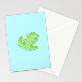 Theodore the fluffy dinosaur! Stationery Cards