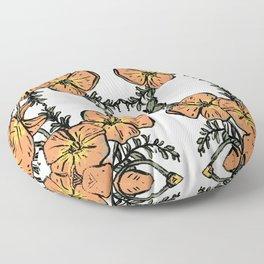 CALIFORNIA POPPIES Floor Pillow