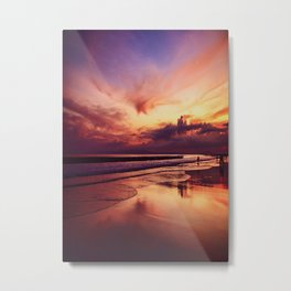 Magical Sunset On The Sea Metal Print
