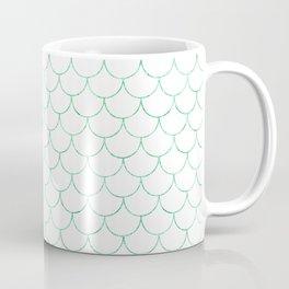 Mermaid Scales in Green Coffee Mug