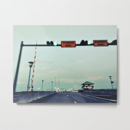 Florida Bridge Falling Down Metal Print