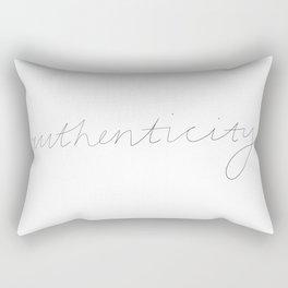 Authenticity Rectangular Pillow