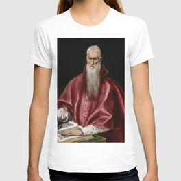 "El Greco (Domenikos Theotokopoulos) ""Saint Jerome as Scholar"" T-shirt"