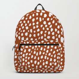 Burnt Orange Spots (white/burnt orange) Backpack