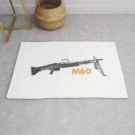M60 American Machine Gun Rug