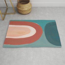 Minimalist Oil Painting Abstract Desert Style Artwork Rug