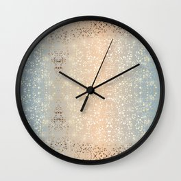Vintage Muted 1920 Glam Gold Star Foil Sparkle Wall Clock