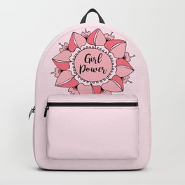Girl Power Pink Mandala Backpack