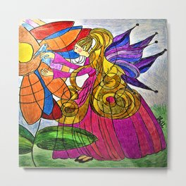 Lily-a-nay Bird Fairy Metal Print