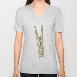Clothes Pin Unisex V-Neck