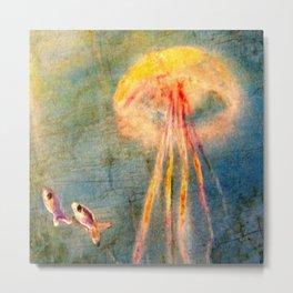 Glow of the jellyfish Metal Print