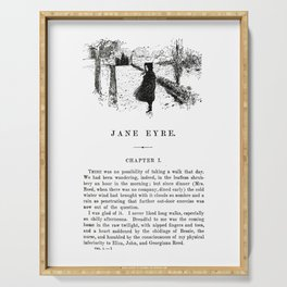 Jane Eyre Charlotte Bronte First Page Serving Tray