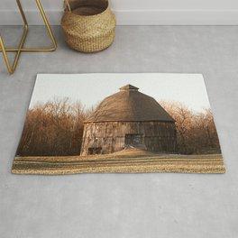 Indiana Rustic Round Barn Photography Print Rug
