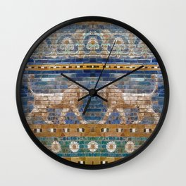 Lion Mosaic Wall Clock