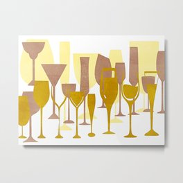 Mid-Century Modern Abstract Celebration Metal Print