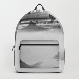 Friendship Mountain Black and White Surreal Nature Backpack