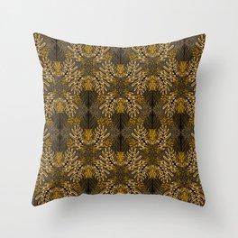 Tigers - Brown & Gold Throw Pillow