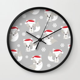 THE SPELL OF THE CHRISTMAS FOXES 2 Wall Clock