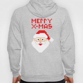 Christmas 8 Bit Pixel Santa Claus Hoody