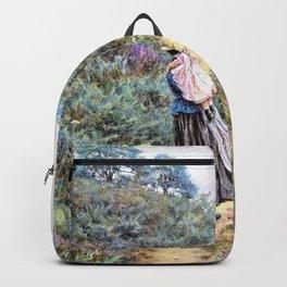 Helen Allingham - Crossing the heath - Digital Remastered Edition Backpack