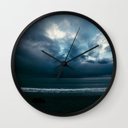 Calm seas before stormy weather Wall Clock