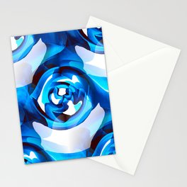 Minimalism Contemporary Abstract in Royal Blue Stationery Cards