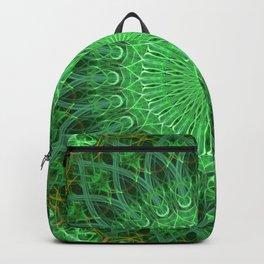 Mandala in bright green tones Backpack