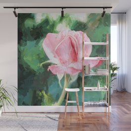 Pink Rose Wall Decor Wall Mural