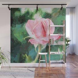 Pink Rose Wall Decor Wall Mural