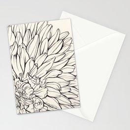 Dahlia Ink illustration Stationery Cards