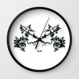 Rorschach inkblot #1 Wall Clock