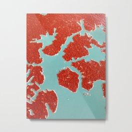 Worn Table Surface Metal Print
