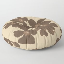 Toffee Soybean Primrose Pattern Floor Pillow