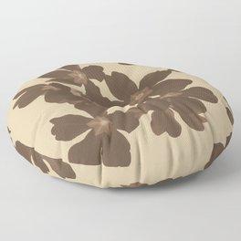 Toffee Soybean Primrose Pattern Floor Pillow