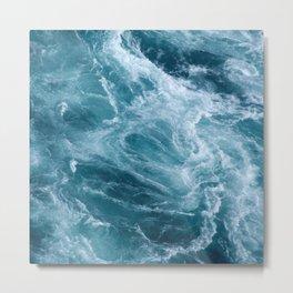 Ocean Storm | Classic Blue | Landscape Photography | Beach Metal Print