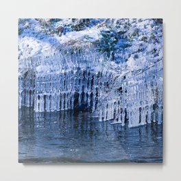 Glittering, natural ice sculptur Metal Print