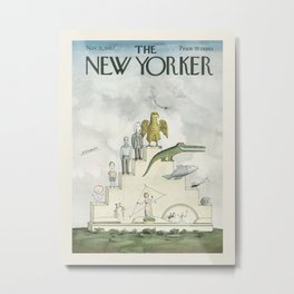 """Cover of """" The new Yorker"""" magazine. Nov. 11 1967. Metal Print"""