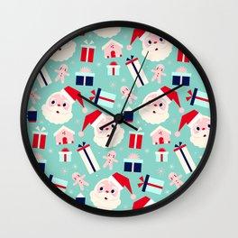 Holly Jolly Pattern Wall Clock