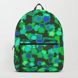 Kawaii green blue flowers Backpack