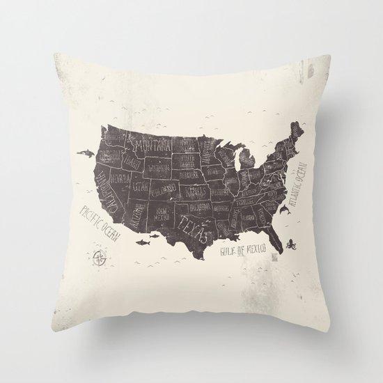 Throw Pillows Usa : USA Throw Pillow by Mike Koubou Society6