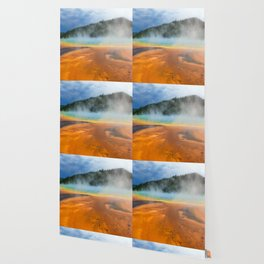 Yellowstone National Park Grand Prismatic Spring Nature Photography Wallpaper